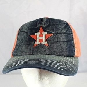 Houston Astros Black Denim/Orange  Baseball Cap Sn